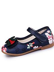 Girls' Sandals Comfort Flower Girl Shoes PU Spring Summer Party & Evening Dress Casual Bowknot Magic Tape Flower Flat HeelBlushing Pink