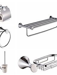 Bathroom Accessory Set / ElectroplatedModern/Comtemporary Towel Shelf  Towel Holder Toilet Paper HolderSoap BasketToilet Brush Holder