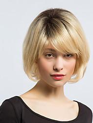 Maysu градиент цвет bobo прелестный человеческий волос парик женщина волосы