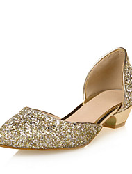 Women's Sandals D'Orsay & Two-Piece Comfort Leatherette Summer Party & Evening Dress Sequin Low Heel Blushing Pink Silver Black Gold1in-1