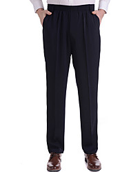 Men's Low Rise strenchy Business Pants,Street chic Straight Slim Polka Dot