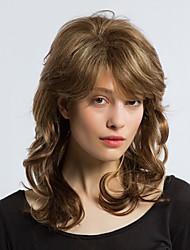 Воздушный смешанный цвет длинные вьющиеся волосы человеческие волосы парики женщина волосы