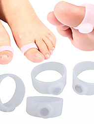 4PCS 2 Pair Magnetic Silicone Foot Massager Toe Rings Slimming Therapy Fast Burn Fat Lose Weight