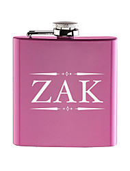 Personalized-Engraved-6-oz-Pink-Hip-Flask-Stainless-Steel-Wedding-Birthday-Valentine-s-Day