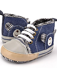 Newborn Baby Boys' Kids' Sneakers First Walkers Canvas Fall Winter Party & Evening Dress Casual Animal Print Lace-up Flat Heel Blue Flat