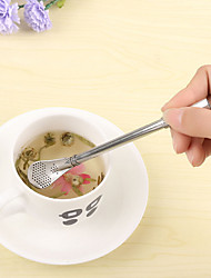 1 Pcs Stainless Steel Drink Straw Cream Coffee Lengthened Tea Filter Sucker Spoon Mixing Spoon