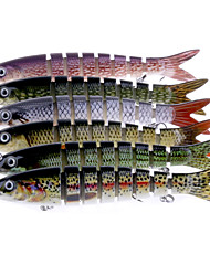 "6 pcs Hard Bait Jerkbaits Minnow Assorted Colors g/Ounce mm/7-3/4"" inch,Soft PlasticSea Fishing Spinning Trolling & Boat Fishing Bass"