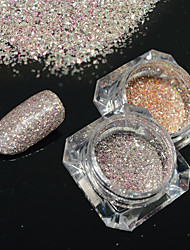2bottles/set 0.2g/bottle Fashion Gorgeous Galaxy Starry Effect Nail Art Platinum Glitter Power DIY Shining Decoration BG10&16