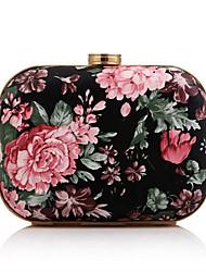 Femme Sac de soirée Polyuréthane Toutes les Saisons Soirée / Fête Mariage Minaudière Fleur Fermoir Rose Pale Jaune Rouge