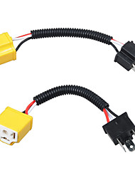 H4 cablagem de fio cerâmico conector de tomada de farol extensão do plugue do adaptador