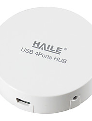 Haile hu-01 branco mini-red 4port usb 2.0 hub com cabo de 80cm