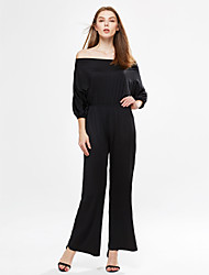Femme Epaules Dénudées Combinaisons Aux s ½ Manches simple Coton/Polyester/Spandex Moyen Micro-élastique