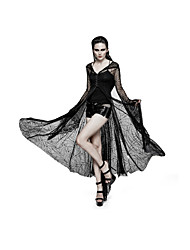 Punk Rave Y-732 Women Party Club Holiday Vintage Street chic Punk Gothic spider web sun block Long Coat