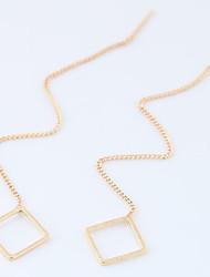 Mulheres Brincos Compridos Moda Euramerican Liga Quadrado Forma Geométrica Jóias Para Diário 8 pçs