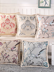 Set Of 5 Top Grade European Style Flowers Pillow Case Fashion Pillow Cover