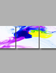 Stretched Canvas Print Three Panels Canvas Wall Decor Home Decoration Abstract Modern Purple Blue