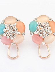 Women's Stud Earrings Drop Earrings Hoop Earrings Opal Imitation DiamondBasic Unique Design Logo Style Rhinestones Circle Friendship