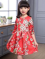 Girl's Fashion Dress Long Sleeve