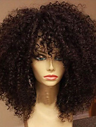 Vigin Hair Human Hair Wigs Peruvian Glueless Lace Front Wigs Deep Curly Human Hair Lace Front Wig For Black Women