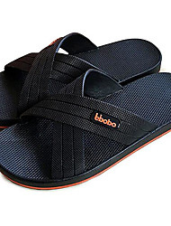 Men's Slippers & Flip-Flops PVC Spring Black Gray Blue Flat
