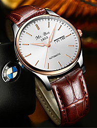 Men's Fashion Watch Quartz Calendar Water Resistant / Water Proof Leather Band Black Brown
