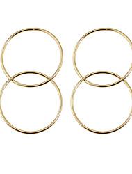 Boucles d'Oreille Basique Le style mignon Simple Style Alliage Forme Ronde Bijoux Pour Quotidien Décontracté 1 paire