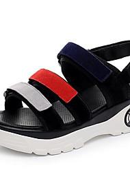 Damen Sandalen Komfort Leder Sommer Normal Komfort Keilabsatz Schwarz 5 - 7 cm