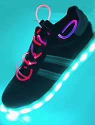 Unissex-Tênis-Conforto Inovador Light Up Shoes-Rasteiro-Preto-Couro Ecológico-Ar-Livre Casual Para Esporte