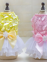 Autre Robe Vêtements pour Chien Mignon Mariage Décontracté / Quotidien Princesse Jaune Rose