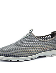 Men's Sneakers Comfort Breathable Mesh Tulle Spring Casual Comfort Light Blue Light Grey Dark Grey Flat
