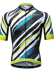 Mysenlan Cycling Jersey Men's Short Sleeve Bike Jersey Quick Dry Breathable Polyester Summer