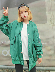 Women's Daily Soak Off Summer Jacket,Playing with Apple Logo Round Neck Long Sleeve Regular Silk