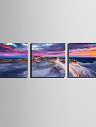 E-HOME Stretched Canvas Art Strange Sea Rocks Decoration Painting Set Of 3