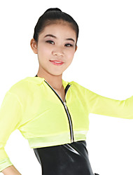 Jazz Costumes Tops Women's / Children's Performance Spandex / Long Sleeve Hoodies / Nylon Polyester / Hip Hop Top Fishnet