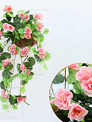 10 Branch/Bouquet High Simulation Begonia  Wall Hanging Flower Home Decoration Artificial Flower