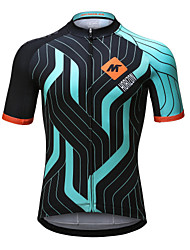 Mysenlan Cycling Jersey Men's Short Sleeve Bike Jersey Quick Dry Breathable Polyester Fashion Summer