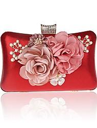 L.WEST Women's fashion cute flowers pearl Dinner Bag