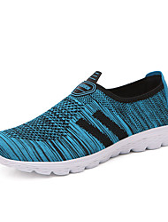 Unisex Sneakers Couple Shoes Light Soles Tulle Summer Fall Athletic Casual Blue Gray Black 1in-1 3/4in