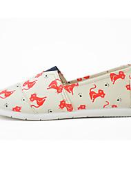 Для женщин Мокасины и Свитер Удобная обувь Светодиодные подошвы Ткань Весна/осень Демисезонный Повседневные Для прогулокУдобная обувь