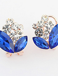 Euramerican Fashion RhinestoneSmall Pure And Fresh And Sweet Joker Clip Earrings Lady Daily Clip Earrings Movie Jewelry