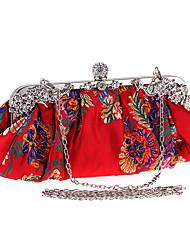 Femme Sac de soirée Polyester Toutes les Saisons Mariage Soirée / Fête Formel Soirée & Evénement Soirée Détail Perle Fermoir Noir Rouge