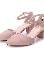 Women's Sandals Comfort Real Leather Pigskin Spring Casual Comfort Light Pink Light Grey Black Flat