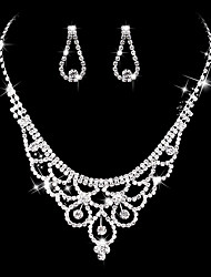 Women's Drop Earrings Choker Necklaces Bridal Jewelry Sets  Vintage Elegant Silver Cubic Zirconia Jewelry For Wedding / Party & Evening