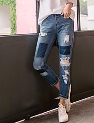 Women's High Waist Micro-elastic Jeans Pants,Sexy Slim Solid