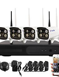 Yanse® plug and play caméra réseau sans fil nvr kits ir vision nocturne sécurité wifi ip caméra dvr system (hdmi / 720p / p2p)