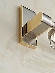 European Style Solid Brass Crystal Gold Bathroom Shelf Bathroom Soap Basket Bathroom Accessories