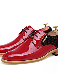 Herren Schuhe Leder Frühling Sommer Neuheit Hochzeit Schuhe Für Hochzeit Party & Festivität Schwarz Rot