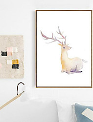 Animal 3D Framed Art Wall Art PS Material Brown No Mat With Frame For Home Decoration Frame Art