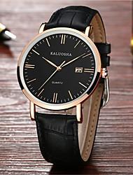 Муж. Модные часы Японский Кварцевый Календарь Защита от влаги Кожа Группа Блестящие Черный