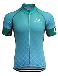 Camisa para Ciclismo Homens Manga Curta Moto BlusasSecagem Rápida Design Anatômico Zíper Frontal Respirável Tiras Refletoras Bolso